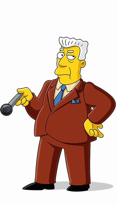 Simpsons Kent Characters Brockman Anchor Simpson Clipart