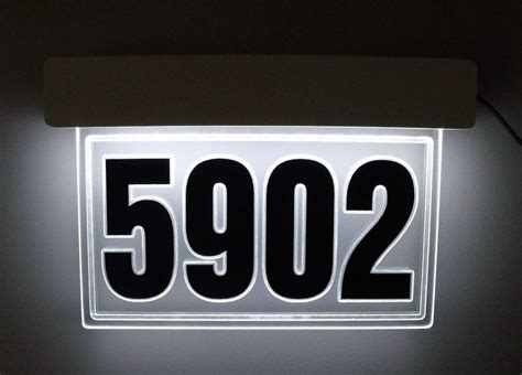 edge lit led lighted address sign led house number
