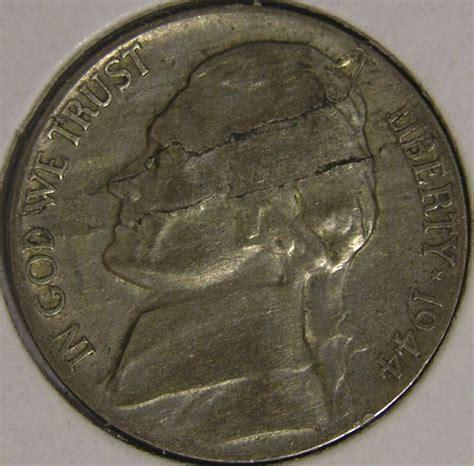 silver nickel 1944 p silver war nickel lamination mint error coin ae 973 ebay
