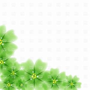 Green flowers - floral frame corner, 28329, Borders and ...