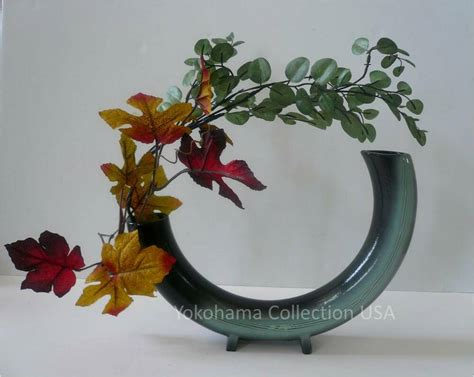 Japanese Flower Vase Ikebana by Japanese 8 Quot 5 Quot Uneven Half Circle Saped Ikebana