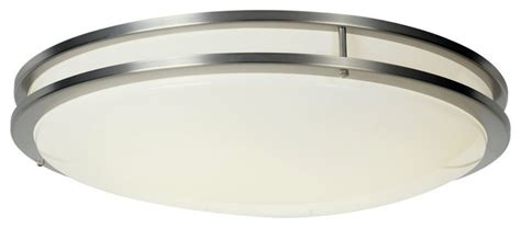 fluorescent 24 inch ceiling light satin nickel