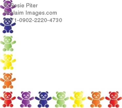 teddy bear border clipart stock photography acclaim images