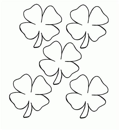 printable  leaf clover coloring home