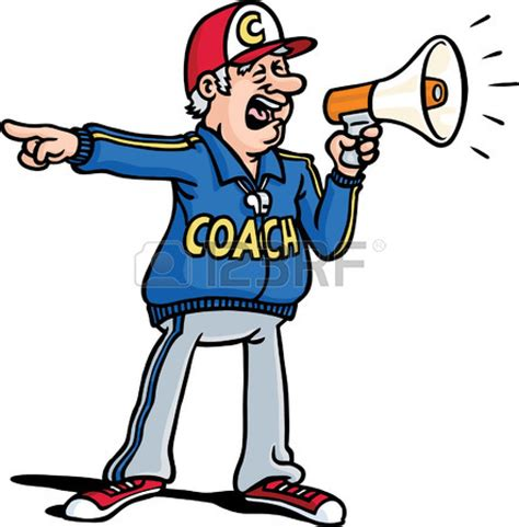 Cartoon Football Coach Clip Art