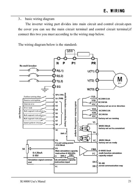 Wiring Diagram Inverter Mitsubishi by Su4000 Ac Drives Frequency Inverter Manual 1