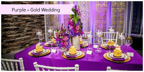 i adore this purple and gold wedding it is such a