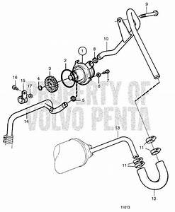 Volvo Penta Exploded View    Schematic Sea Water Pump With