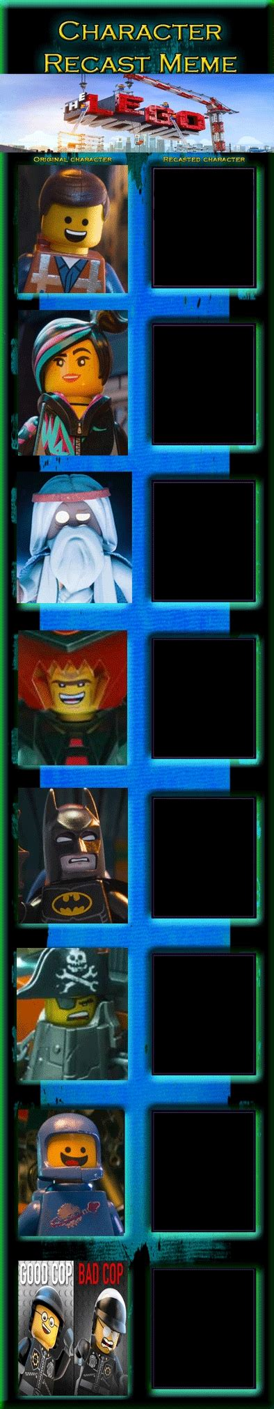 The Lego Movie Meme - the lego movie recast meme by jackskellington416 on deviantart