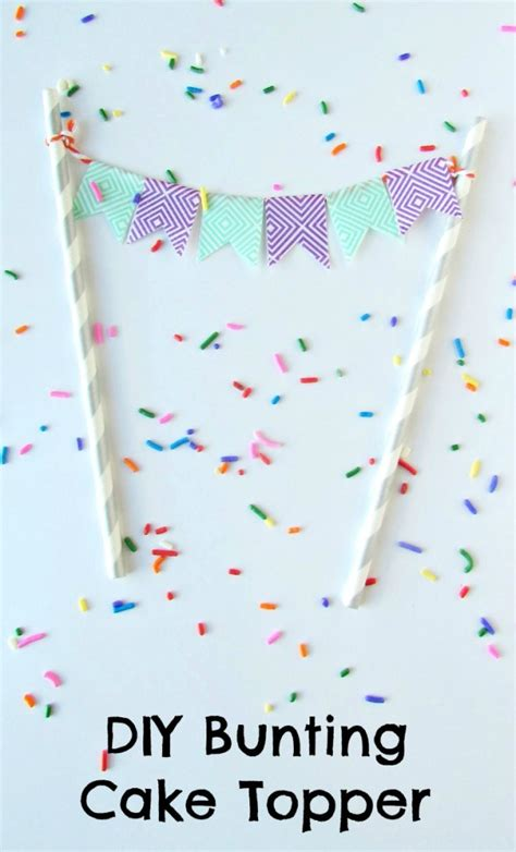 diy bunting cake topper val event gal