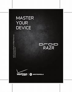 Motorola Droid Razr Verizon Quick Start Manual Xt912