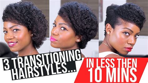 styles for transitioning hair transitioning hairstyles 3 styles less then 10 mins 1248