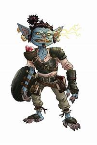 The Art of M. S. Corley: Pathfinder Blue Goblin