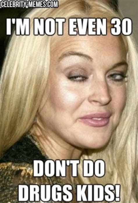 Funny Celebrity Memes - lindsey lohan meme funny celebrity meme