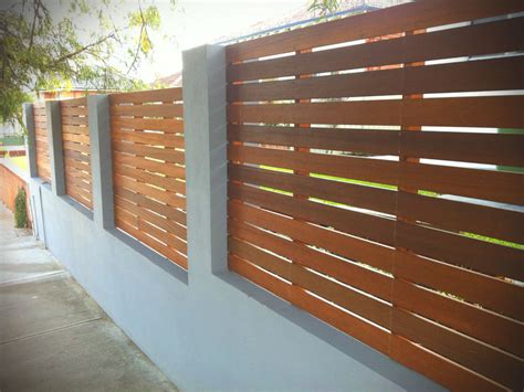 Wood Panel Wall Fence