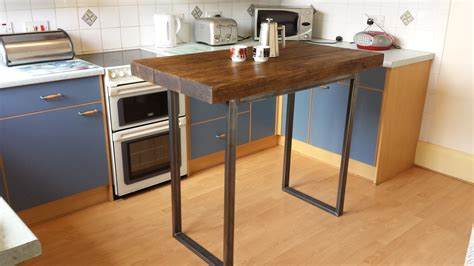 kitchen island as table rustic breakfast bar table kitchen island by