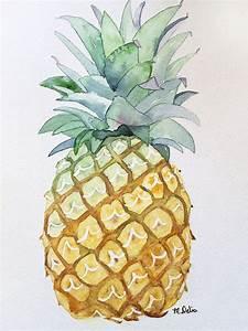 Pineapple Watercolor #Etsy | Art | Pinterest | Friendship ...