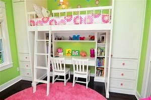 Lit Bureau Fille : une chambre commune pour deux enfants zinezo ~ Teatrodelosmanantiales.com Idées de Décoration