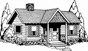 Best House Clipart Coloring Black White #29978 ...