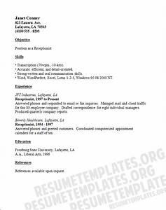 Doc Medical Receptionist CV Template Job