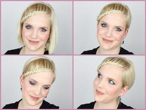 halblange haare stylen halblange haare flechten
