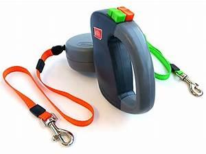 Wigzi Dual Doggie 2 Dog Retractable Leash, 35 pounds per ...