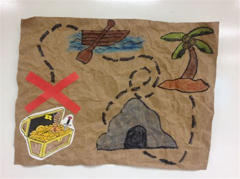 Treasure Map Craft For Kids Stuff For The Library