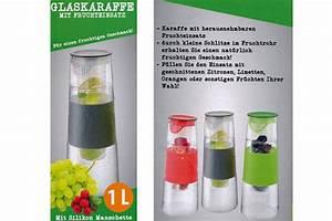 Karaffe Mit Fruchteinsatz : glaskaraffe mit fruchteinsatz gr n deckel 1 ltr glas karaffe kaufen bei gd artlands etrading gmbh ~ Watch28wear.com Haus und Dekorationen