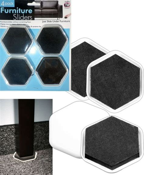 Sliders For Heavy Furniture by Furniture Glides 4 Pack Furniture Sliders Slide Heavy