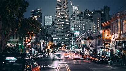 Street Lights Night Usa Road Francisco San
