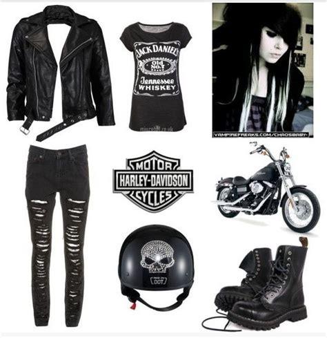 Harley davidson polyvore set12 | Harley Davidson Addiction | Pinterest | Sexy Biker gangs and ...