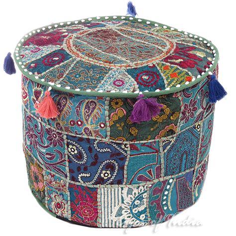small ottoman covers 12 x 17 quot small green decorative pouff ottoman cover