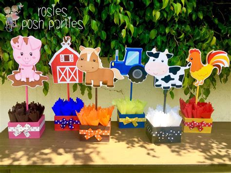 farm theme birthday party wood guest table centerpiece