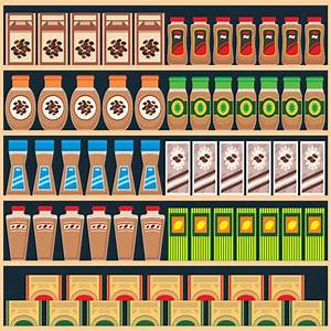 Supermarket food shelf vector material 02 - Vector Food ...