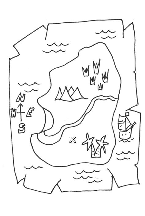 treasure map coloring pages    print