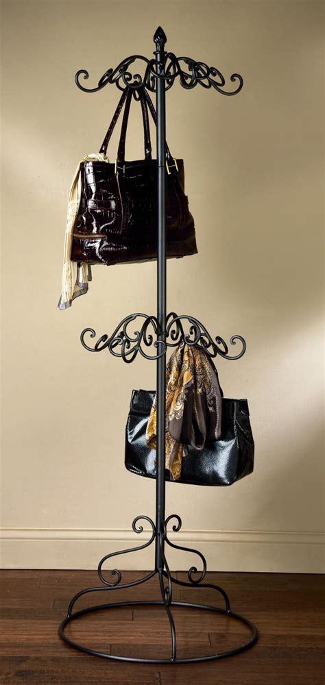 black metal scarf purse display tripar international