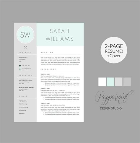 1000 images about resume templates for word cover