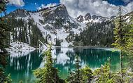 Mountain Forest Lake