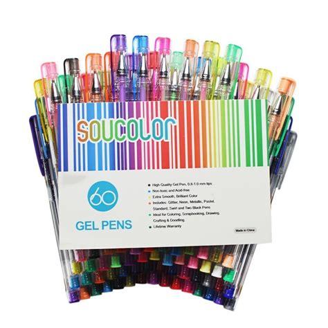 soucolor gel pens  adult coloring books set