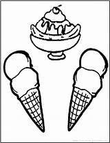 Ice Cream Coloring Icecream Pages Cone Cones Printable Print Fun Cute Sundae Getcoloringpages Activities Coloring2print sketch template