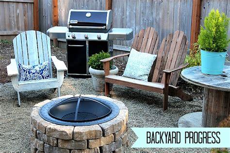 easy diy firepit progress   fall backyard makeover