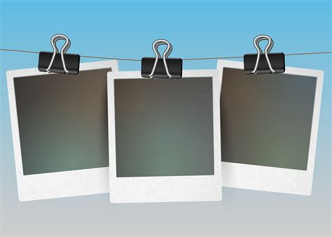 Three blank picture frames hanging, vector 320320 Vector Art at Vecteezy