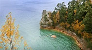 Pictured Rocks National Lakeshore in Michigan US State ...