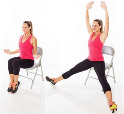 Chair Leg Raise With Twist by 14 Unique Chair Exercises For The Whole