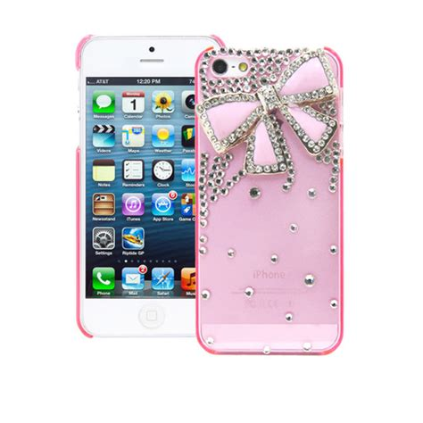 ebay iphone 5s cases 3d bling rhinestone pink bow pink