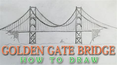 How to draw the Golden Gate Bridge EASY - San Francisco ...