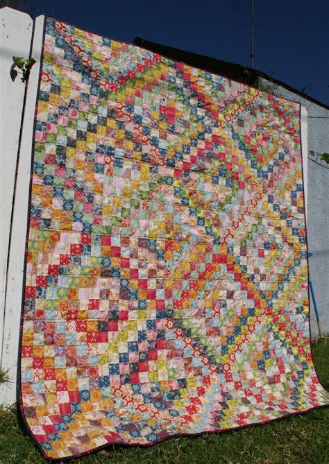 trip around the world quilt pattern scrappy trip around the world finished