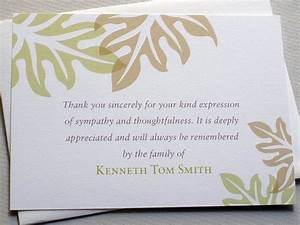 Writing thank you notes after a funeral