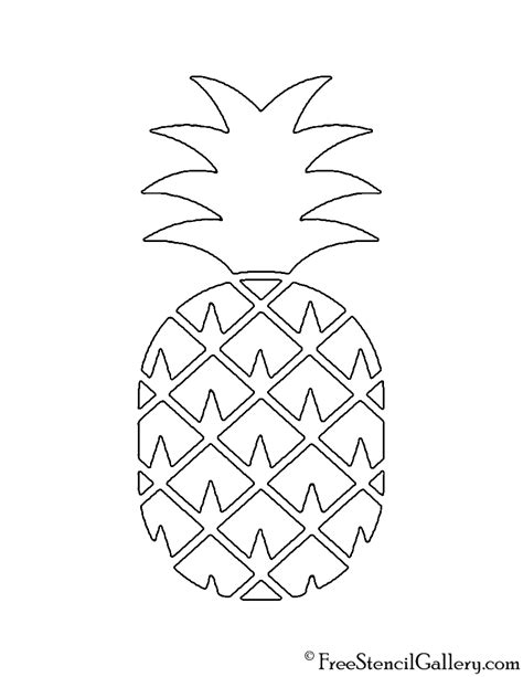 pineapple  stencil  stencil gallery