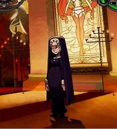 Nun Skullgirls Double Transformation Evil Animated Ugly